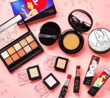 韓国コスメ「CLIO」とディズニーが共同企画 アリエルとアリスをモチーフにした化粧品発売へ