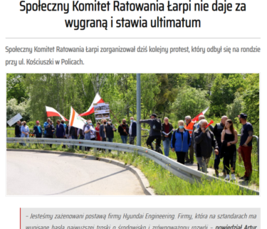 ポーランドで韓国企業への抗議デモが発生 廃棄物による川汚染受け