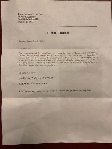 米韓国系飲食店にヘイト文書が配達 「司法機関を詐称した手紙であり深刻」