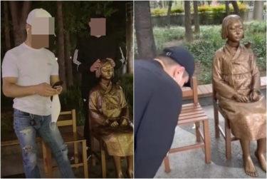 韓国で少女像を叩いた外国人、市民団体が警察に告発 「慰安婦の戯画化を防ぎたい」